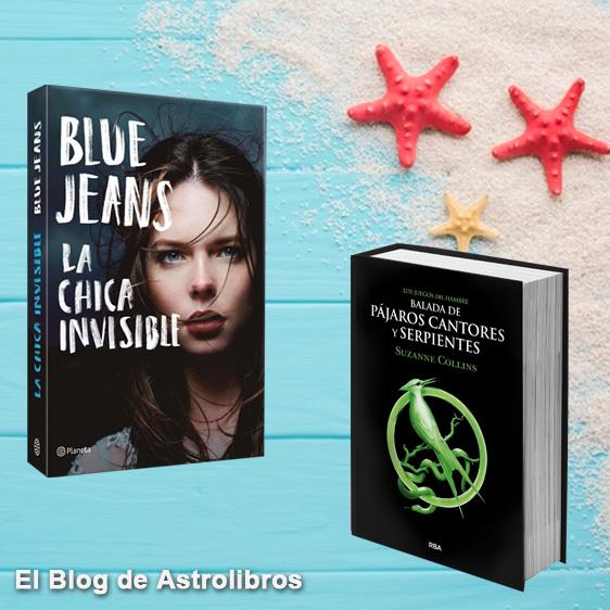 Los mejores libros para leer este verano 2020: La chica invisible de Blue Jeans y Los juegos del hambre.
