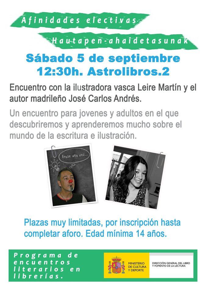 Charla Astrolibros Jóvenes y adultos | José carlos andrés | Leire martín  | ACTIVIDADES SEPTIEMBRE