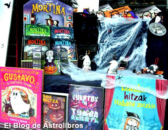 Astrolibros.2 Lascaray | Librería infantil y juvenil | Escaparate Halloween 2020 | Vitoria-Gasteiz