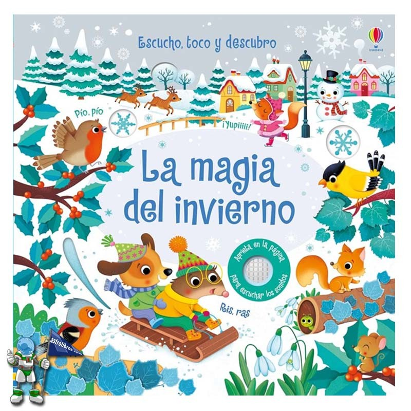 La magia del invierno | Libro con sonidos | Libros de bebé | Libros de navidad Usborne | Astrolibros librería infantil Vitoria-gasteiz | Librería online