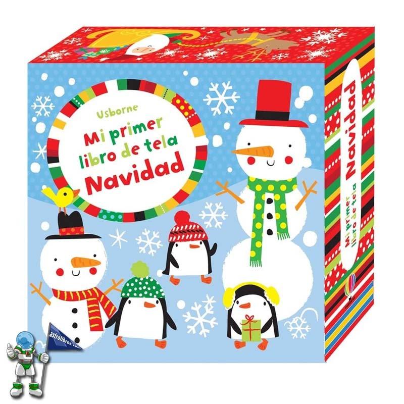 Mi primer libro de tela Navidad  | Libros de navidad Usborne | Astrolibros librería infantil Vitoria-gasteiz | Librería online