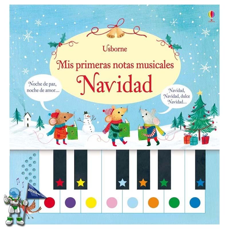 Mis primeras notas musicales Navidad | Libro piano | Libros de navidad Usborne | Astrolibros librería infantil Vitoria-gasteiz | Librería online