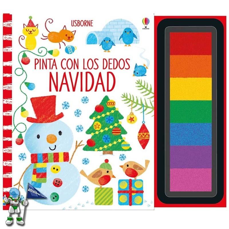 Pinta con los dedos Navidad | Libros de navidad Usborne | Astrolibros librería infantil Vitoria-gasteiz | Librería online