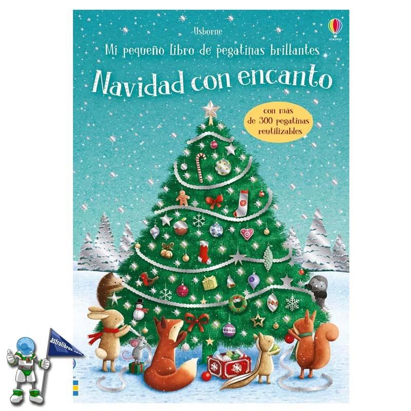 Mi pequeño libro de pegatinas brillantes Navidad con encanto | Libro de pegatinas usborne | Libros de navidad Usborne | Astrolibros librería infantil Vitoria-gasteiz | Librería online