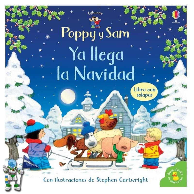 Poppy y Sam, ya llega la Navidad Libro Con Solapas | Libros de navidad Usborne | Astrolibros librería infantil Vitoria-gasteiz | Librería online