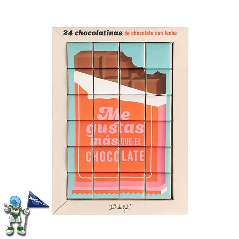 Regalos originales para San Valentín, Mr Wonderful Chocolatinas me gustas más que el chocolate Astrolibros punto de venta Mr Wonderful de Vitoria-Gasteiz