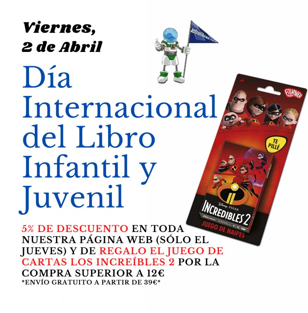 Día Internacional del Libro Infantil y Juvenil, descuentos en libros y juguetes en Astrolibros librería infantil de Vitoria-Gasteiz y librería online, envíos gratuitos a partir de 39€